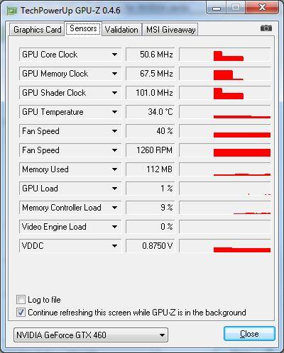 GPU-Z 0.4.6 - hardware sensors