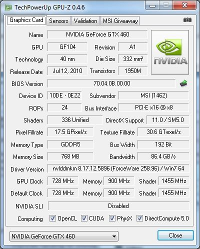 GPU-Z 0.4.6