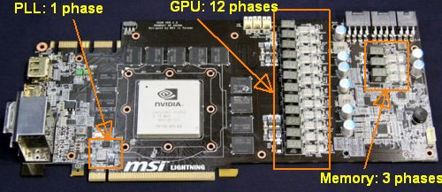 MSI GTX 480 Lightning - VRM