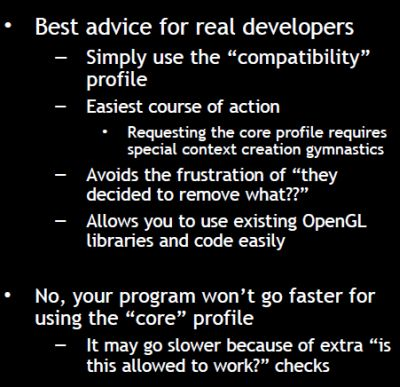 OpenGL deprecation: best advice for real developers