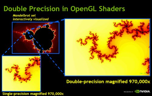 OpenGL shaders: double precision