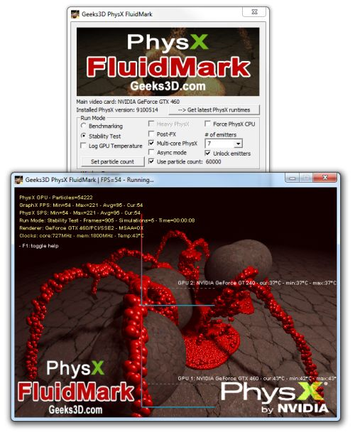 PhysX FluidMark 1.2.2