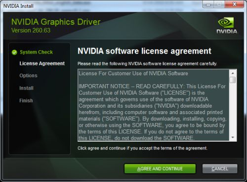 NVIDIA R260.63 graphics driver