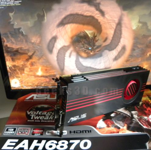 ASUS EAH6870, Power Consumption and GPU temperature with FurMark
