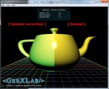 GeeXLab - Gamma correction demo, GeeXLab, GLSL