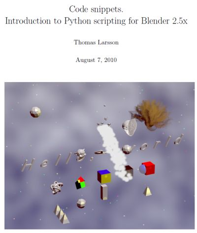 Free E-Book For Programming Blender in Python
