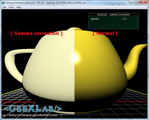 gamma correction of 6.0