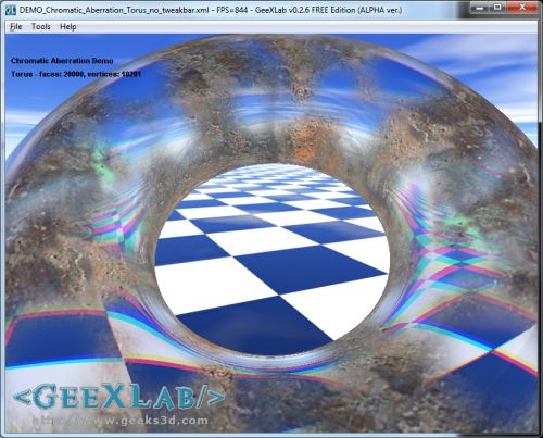 GeeXLab, Chromatic Aberration (GLSL)