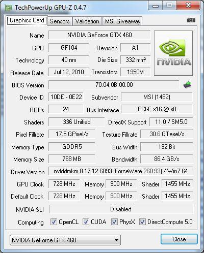 GPU-Z 0.4.7