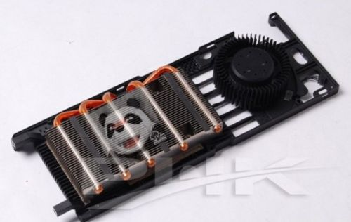 GeForce GTX 580 VGA cooler detail
