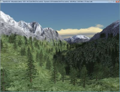 OpenGL 4 Mountains demo