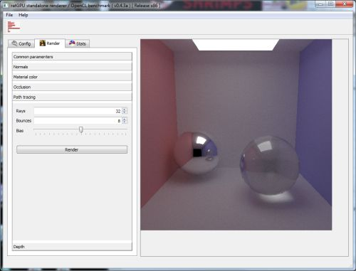 ratGPU: OpenCL Ray Tracing renderer