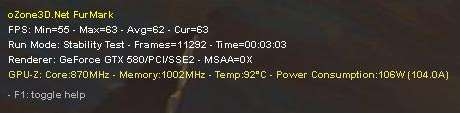 ASUS ENGTX580 - GPU core clock=871MHz