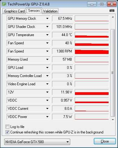 ASUS ENGTX580, GPU-Z sensors