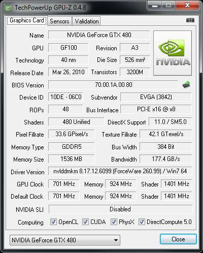 GPU-Z 0.4.8 With GTX 580 Support