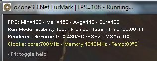 GTX 480 + FurMark