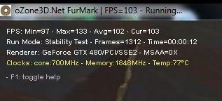 GTX 480 + FurMark