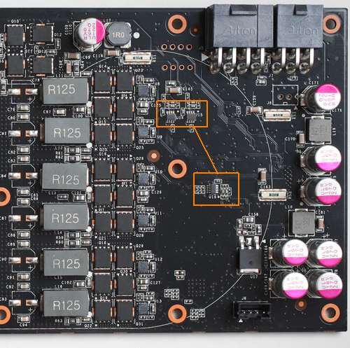 GTX 580 - Voltage and current monitoring chips