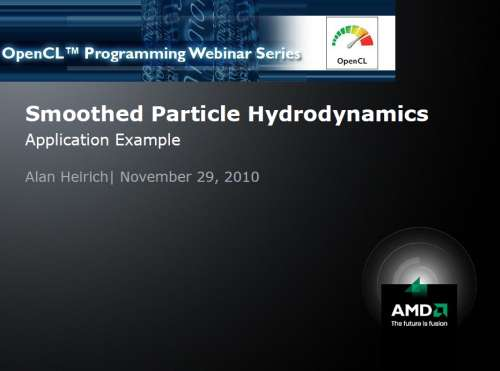 AMD OpenCL whitepapers: Smoothed Particle Hydrodynamics