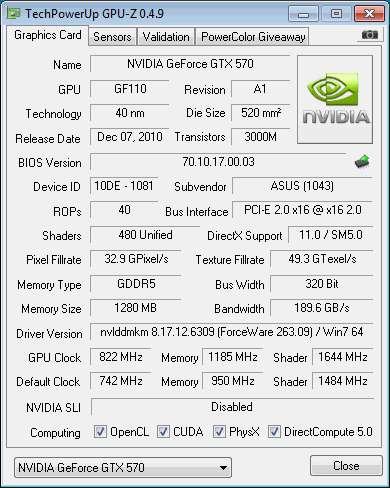 ASUS GTX 570 GPU-Z