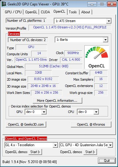 GPU Caps Viewer 1.9.4 + Catalyst 10.12 + Radeon HD 6870
