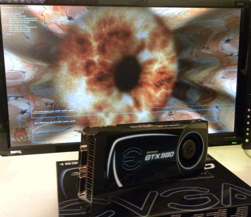 EVGA GeForce GTX 580 SC, FurMark 1.9.0 Burn-in mode