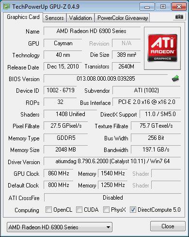 Radeon HD 6950 GPU-Z