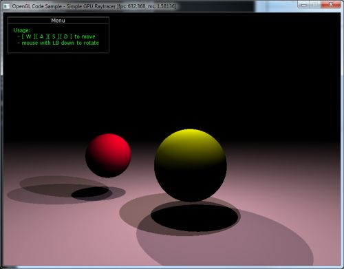 OpenGL 3 demo