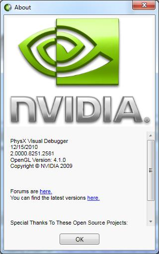 NVIDIA PhysX Visual Debugger