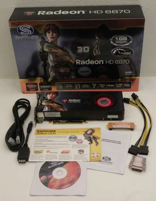 SAPPHIRE Radeon HD 6870 bundle