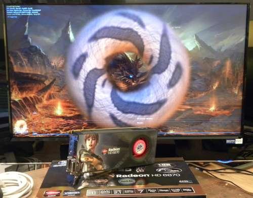 SAPPHIRE Radeon HD 6870, FurMark 1.8.2 Xtreme mode