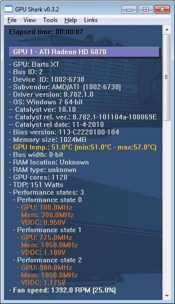 SAPPHIRE Radeon HD 6870, GPU Shark