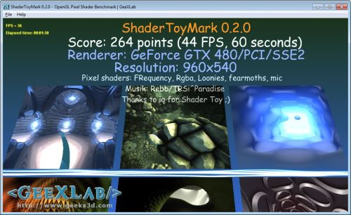 ShaderToyMark - Pixel shader benchmark - GeeXLab