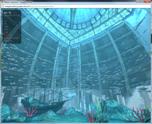 WebGL demo: Aquarium