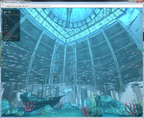 WebGL demo: Aquarium