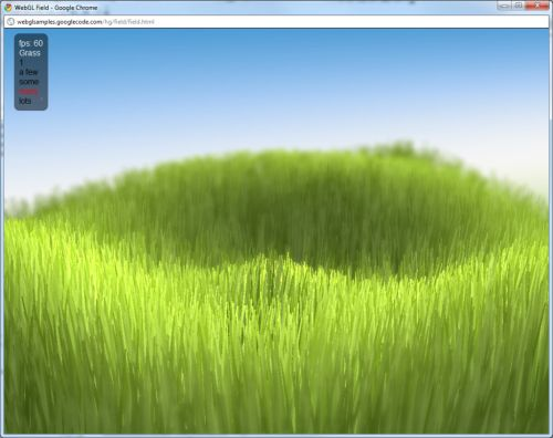 WebGL demo: Field