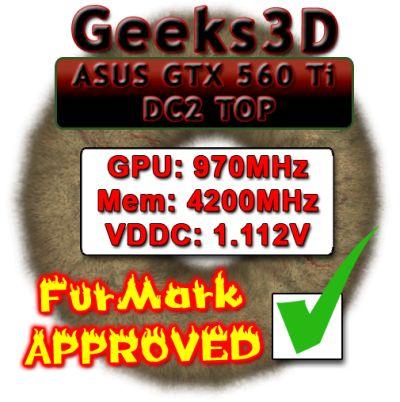 ASUS GTX 560 Ti DC2 TOP - FurMark APPROVVED