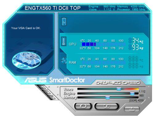 ASUS GTX 560 Ti + SmartDoctor