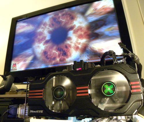 ASUS GeForce GTX 560 Ti DirectCU II TOP, FurMark 1.9.0