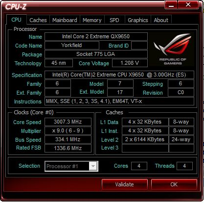 CPU-Z ROG Edition