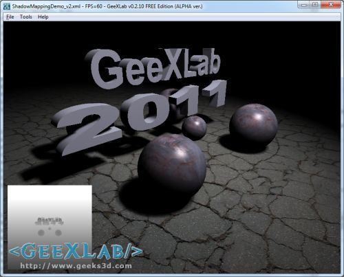 GeeXLab - shadow mapping demo