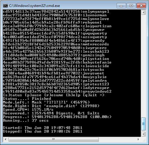 oclHashcat - Radeon HD 6970