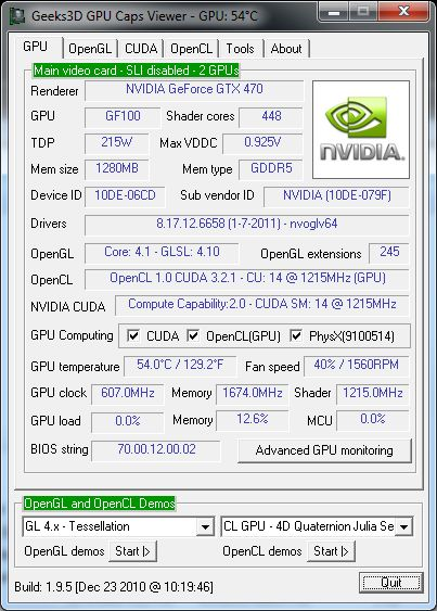 NVIDIA R266.58 + GPU Caps Viewer 1.9.5