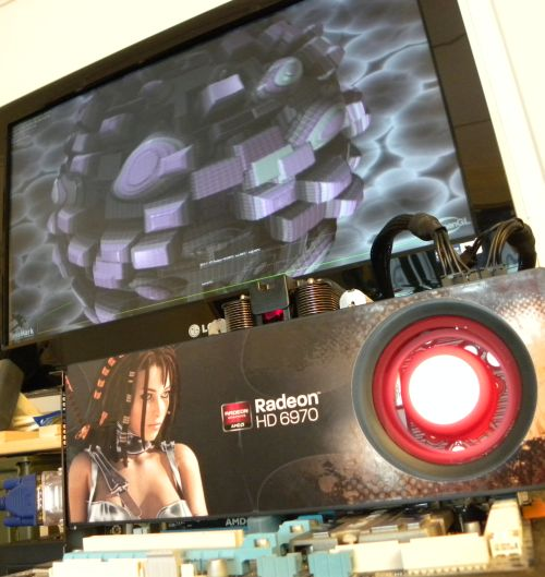 SAPPHIRE Radeon HD 6970 running TessMark