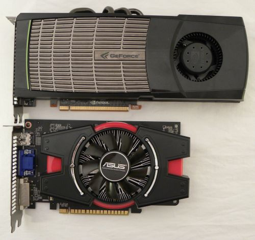 ASUS GeForce GT 440, NVIDIA GeForce GTX 480