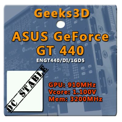ASUS GT 440, Geeks3D OC validation
