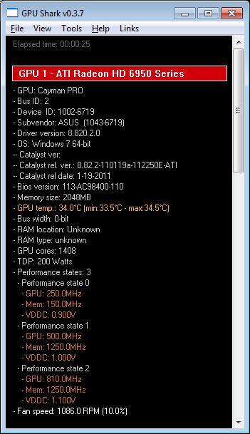 ASUS Radeon HD 6950 DC2, GPU Shark
