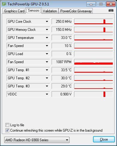 ASUS Radeon HD 6950 DC2, GPU-Z