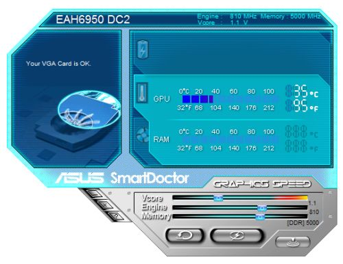 ASUS SmartDoctor - overclocking utility