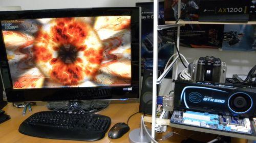 EVGA GTX 580 SC, stress-tested by FurMark 1.9.0
